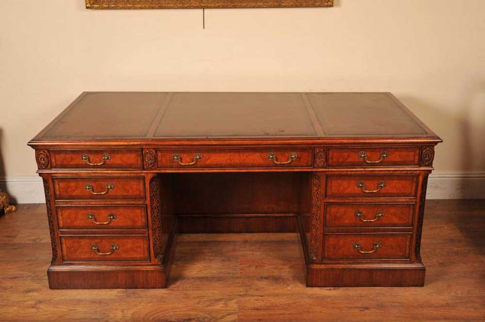 Regency Desk Walnut Writing Table English Desks