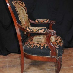 Antique Windsor Chairs Ergonomic Chair Assessment Set 4 Woven Arm Seats Mahogany Tapestry Fauteil