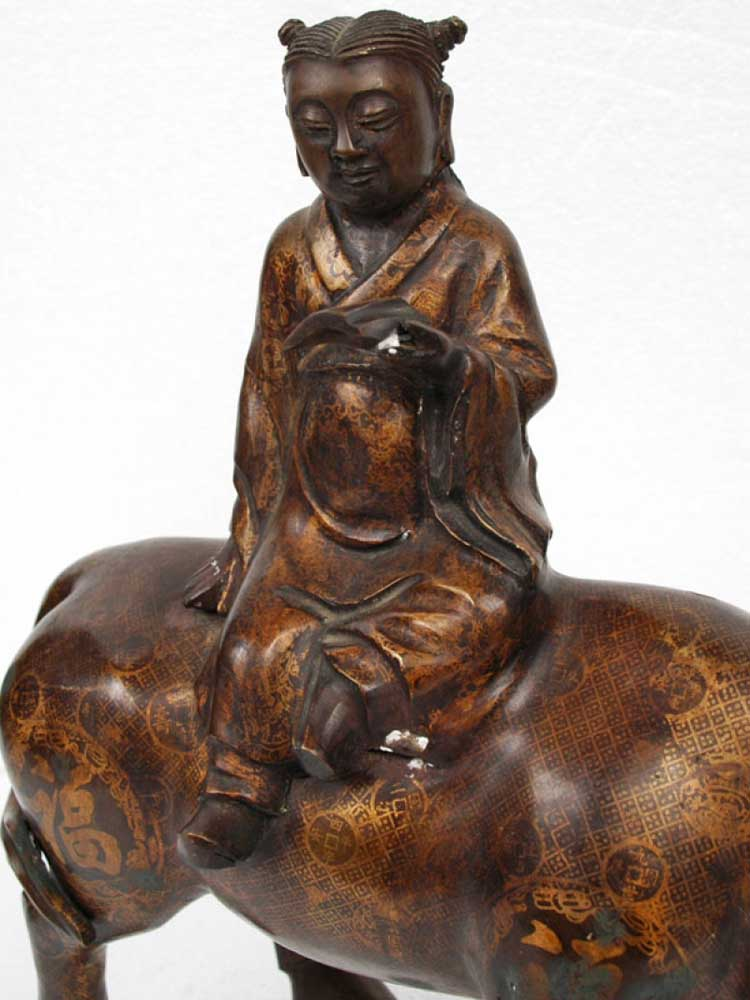 Tang Chinese Water Buffalow and Confucianism Scholar