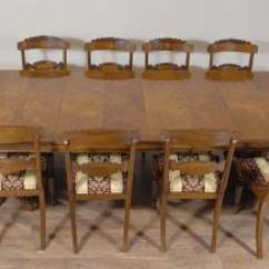 10 Chair Dining Table Set Antique Wooden Rocking Chairs Regency Sets And Combinations Walnut William Iv