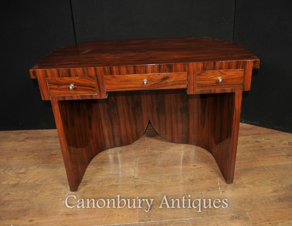 Art Deco Desk Writing Table in Rosewood Furniture