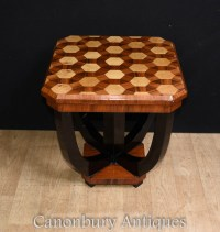 Art Deco Side Table - Inlay Cocktail Tables