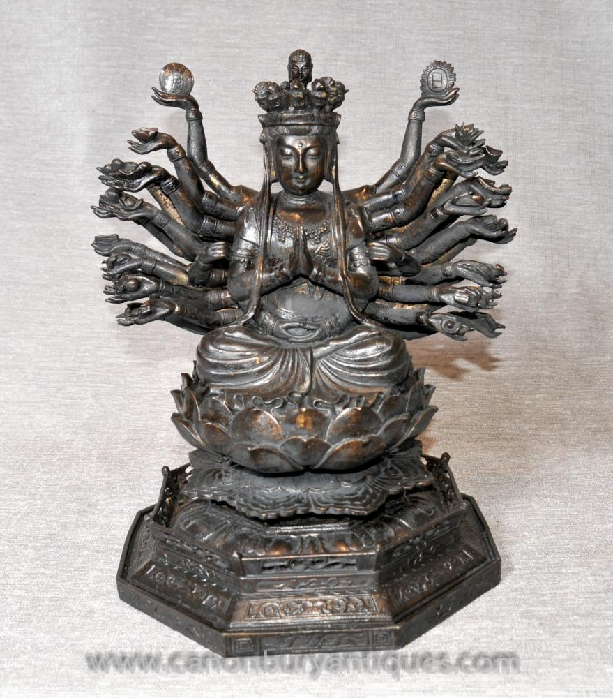 Bronze Statue of Hindu God Durga Mother Goddess Hinduism Art