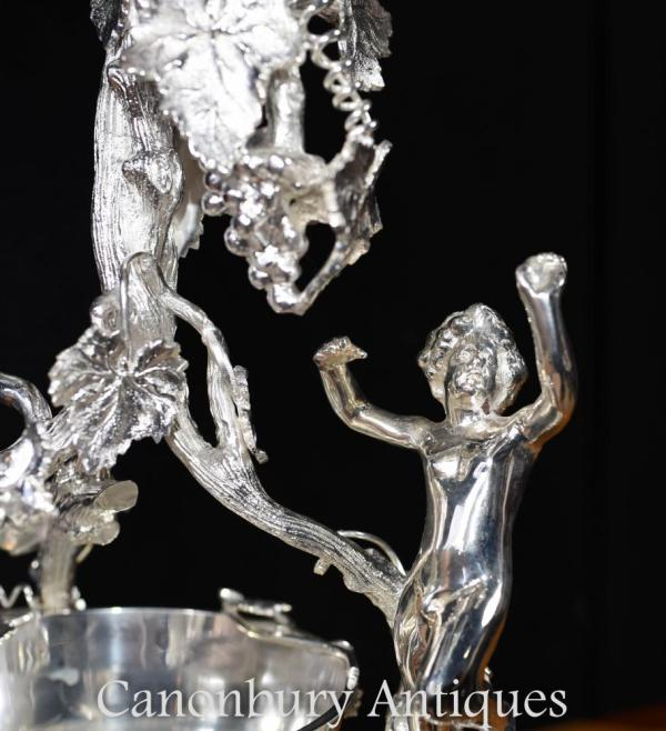 Sheffield Silver Plate Centrepiece Epergne - Cut Glass