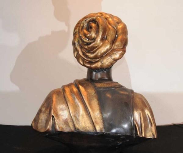 Bronze Blackamoor Bust Venetian Moor Statue Art