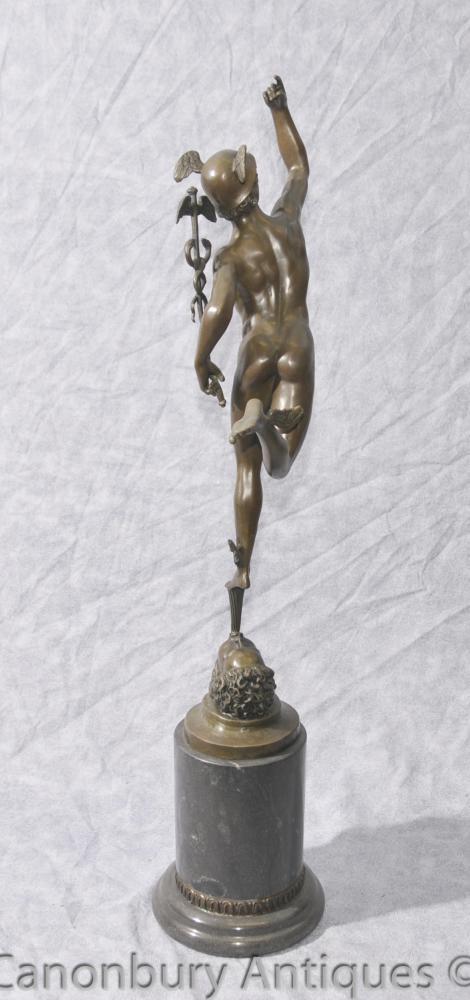 Bronze Casting Mercury Statue Classic Roman Myth Hermes