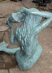Large Bronze Mermaid Sculpture Fountain Garden Art