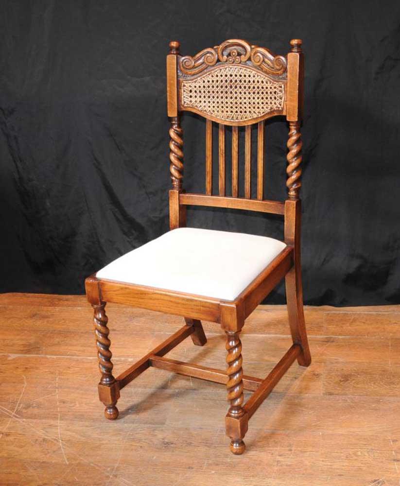 Set 8 Barley Twist Dining Chairs Kitchen Farmhouse Chair