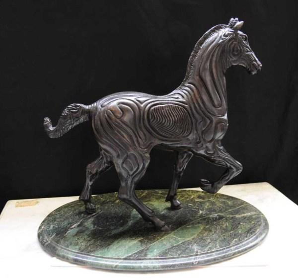 Spanish Bronze Horse Statue Sculpture Absract Picasso Art