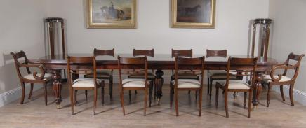 Regency Pedestal Dining Table & Chairs