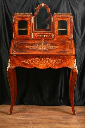 Antieke Victoriaanse Bureau Desk Bonheur Du Jour