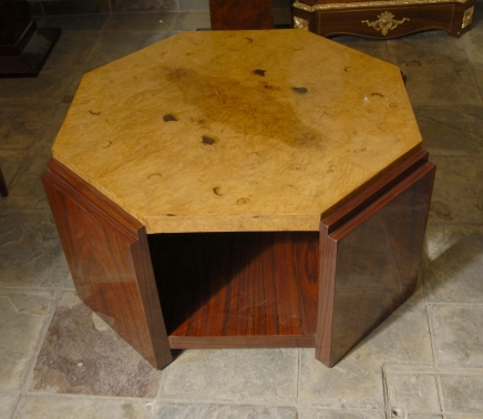 Rosewood Art Deco Coffee Table