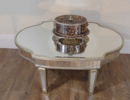 Art Deco Glas gespiegelte Coffee Table