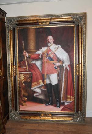 Englisch Ölgemälde König Edward VII.