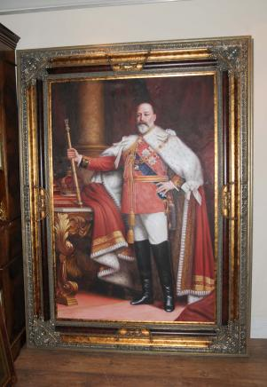 Английский Картина маслом короля Эдуарда VII