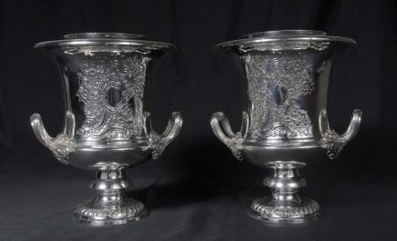 Silver Plate Wijn Champagne Koelers Emmers