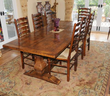 Kloostertafel en Ladderback Chair Dining Set