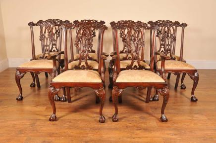 Englisch Gothic Chippendale Dining Chairs