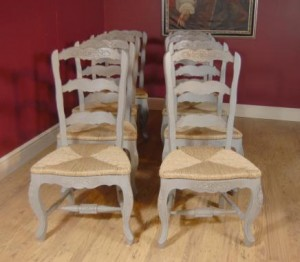 Painted Leiterrücken Farmhouse Chairs