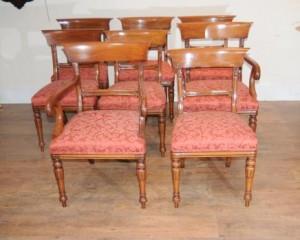 Regency Bar Back Mahogany Cadeiras de jantar