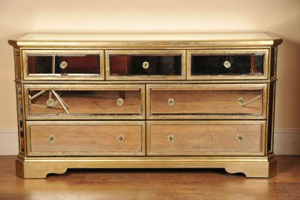 Gespiegelte Chest Sideboard Buffet Server Art Deco