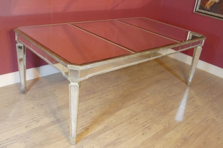 Art Deco Mirrored Dining Table Desk