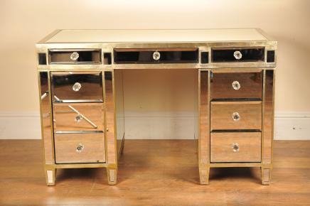 Gespiegelte Desk Knee Loch Spiegel Möbel