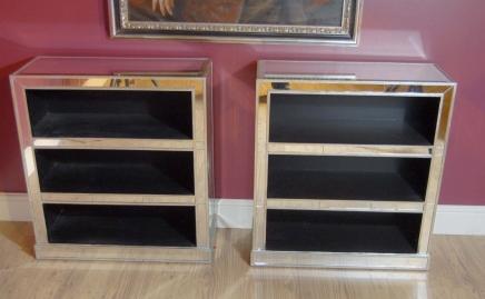 Art Deco Gespiegelte Bücherregale Book Case