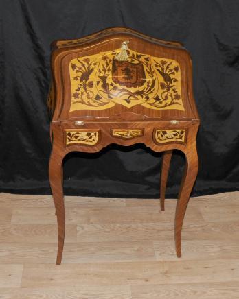 Louis XV Bureau De Dame Desk Writing Table Inlay