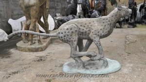 Lifesize Bronze Cheetah Statue Cats Animals