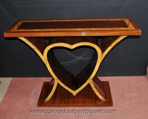 Art Deco Heart Console Table 1920s Vintage Furniture