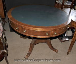 English Victorian Drum Centre Table Tables