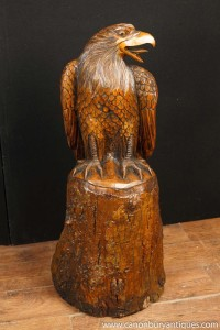 Large Hand Carved American Bald Eagle Statue Birds Prey