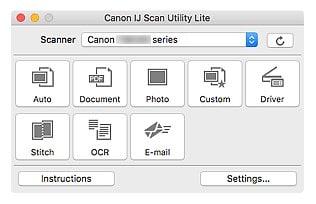 IJ Network Device Setup Utility (macOS)