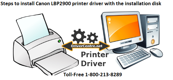 Steps to install the Canon LBP2900 printer driver with the installation disk