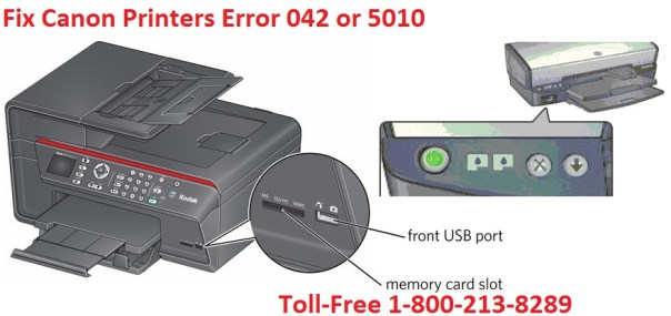 Canon Printers Error 042 or 5010 (