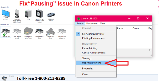 Fix Pausing Issue In Canon Printers