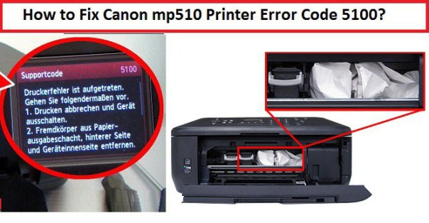 Canon mp510 Printer Error Code 5100