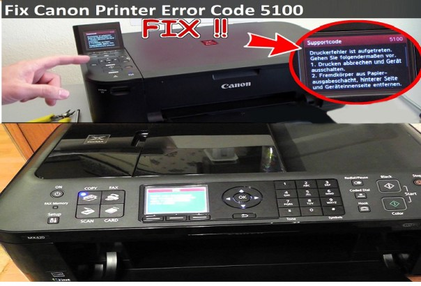 Canon mx700mx870 Printer Error Code 5100