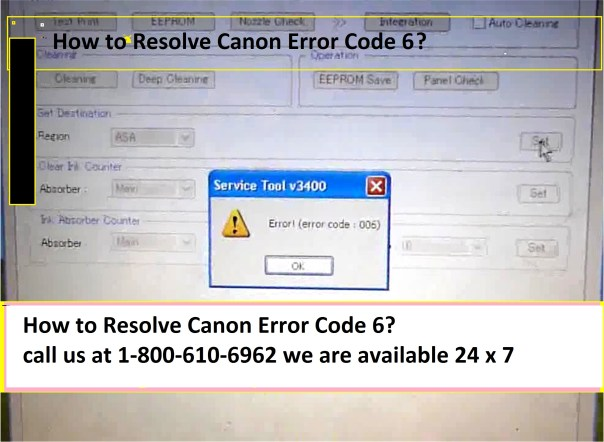 How to Resolve Canon Error Code 6