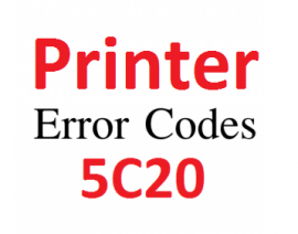 How to resolve canon printer error 5c00