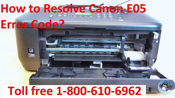 Resolve Canon E05 Error Code