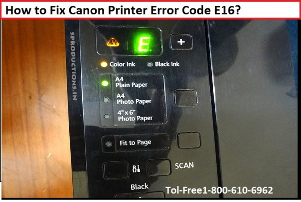 Resolve Canon Error Code E16