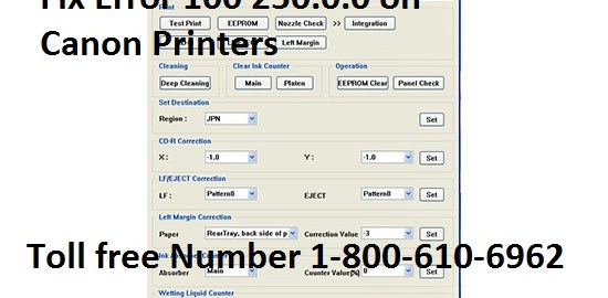 Fix Error 100 250.0.0 on Canon Printers
