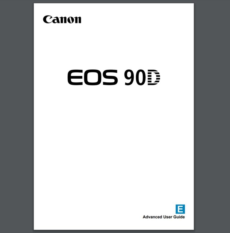 Canon EOS 90D User Manual now Available for Download