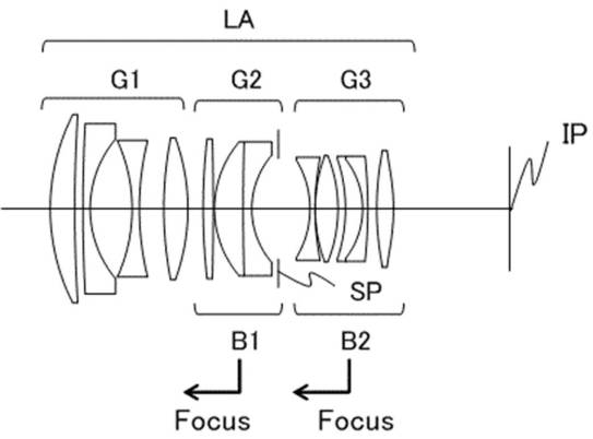 Canon patent for 58mm f/1.4 full frame lens with