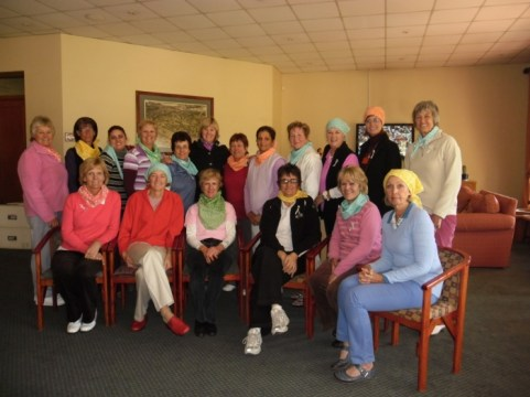 Silvia Craucamp with the ladies from ERPM Golf Club