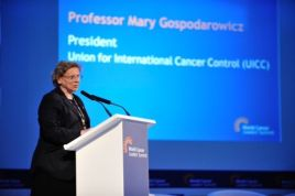 Prof Mary Gospodarowicz, President UICC delivering closing remarks at WCLS