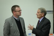 Prof Michael Kew with Prof Patrick Arbuthnot