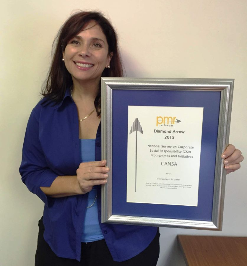 Lucy Balona, Head: Marketing & Communication, received the award on behalf of CANSA